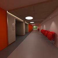 max university school corridor
