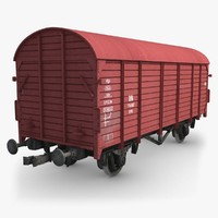 cargo train wagon 3d max
