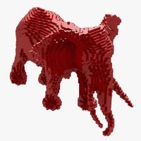 maya pixel elephant