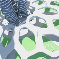 3d futuristic architectural