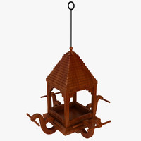 3ds max gazebo hanging bird
