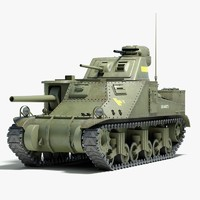 ww2 m3 lee tank tracks 3d model