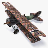 3d model pfalz d xii aircraft