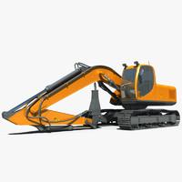 3ds max hydraulic hammer crawler