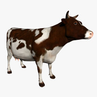 3ds max cow brown