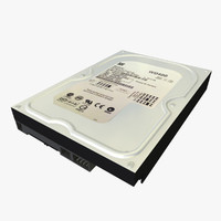3d internal hard disk hdd model