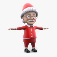 3d model uncle santa non rig