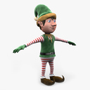 christmas elf 3D models