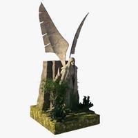 3d model statue architectural