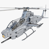 Bell AH-1Z Viper 4 Rigged