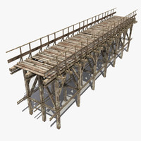 3d wooden bridge 6