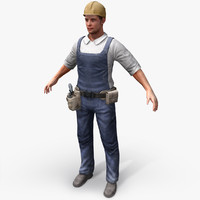 Real-Time Construction Worker 3D Model