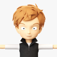 3d model boy cartoon