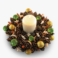 christmas cone wreath 3d max