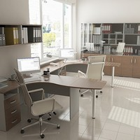 office design furniture 3d max