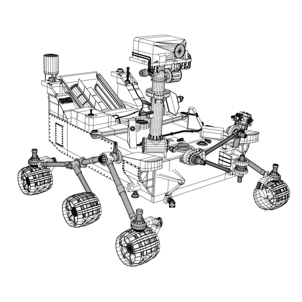draw mars rover curiosity - photo #13