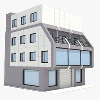 corporate industrial building 3d max