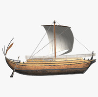 3d model of ancient greek freight ship hull