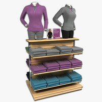 display womens long sleeve 3d model