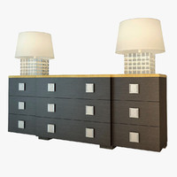 flexform mood chest 3d model