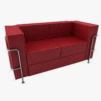 modern leather sofa le corbusier 3ds
