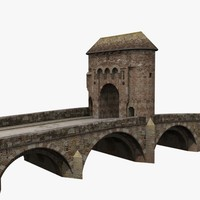 old monnow landmark bridge 3d max
