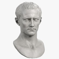 3d model decorative bust roman