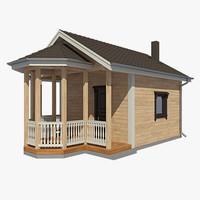 log house 3d max