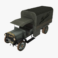 french army vehicle berliet 3d model