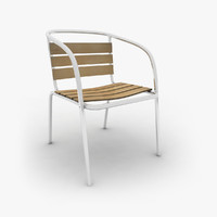 metal garden chair 3d 3ds