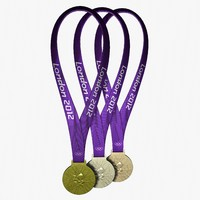 3d model 2012 london olympic medals