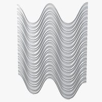 Engraved Wave Wall Panel