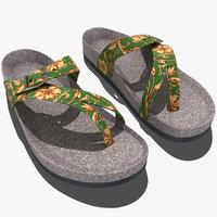 3d model teva naot sandal