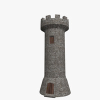 3d medieval tower