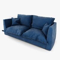 3dsmax brest sofa baxter