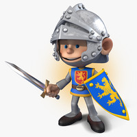3ds max cartoon knight