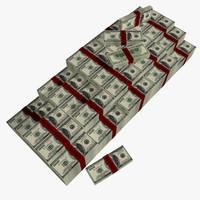 3d pile money