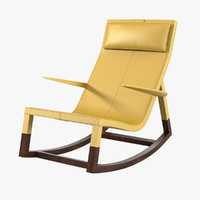 poltrona frau don rocking chair 3d model