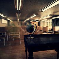 classroom scene 3d max