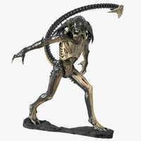 3d predalien maquette sculpture model