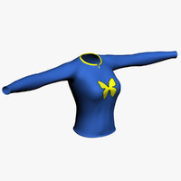 3ds max woman t-shirt