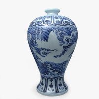 3d model porcelain chinese