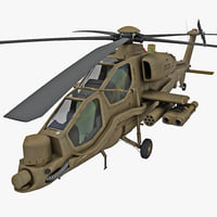 Agusta A129 Mangusta 2 Rigged
