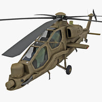 Agusta A129 Mangusta 3 Rigged