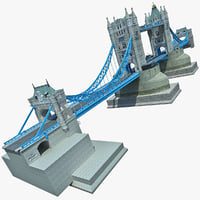 london tower bridge 2 3d max
