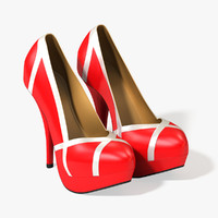 obj shoes red leather