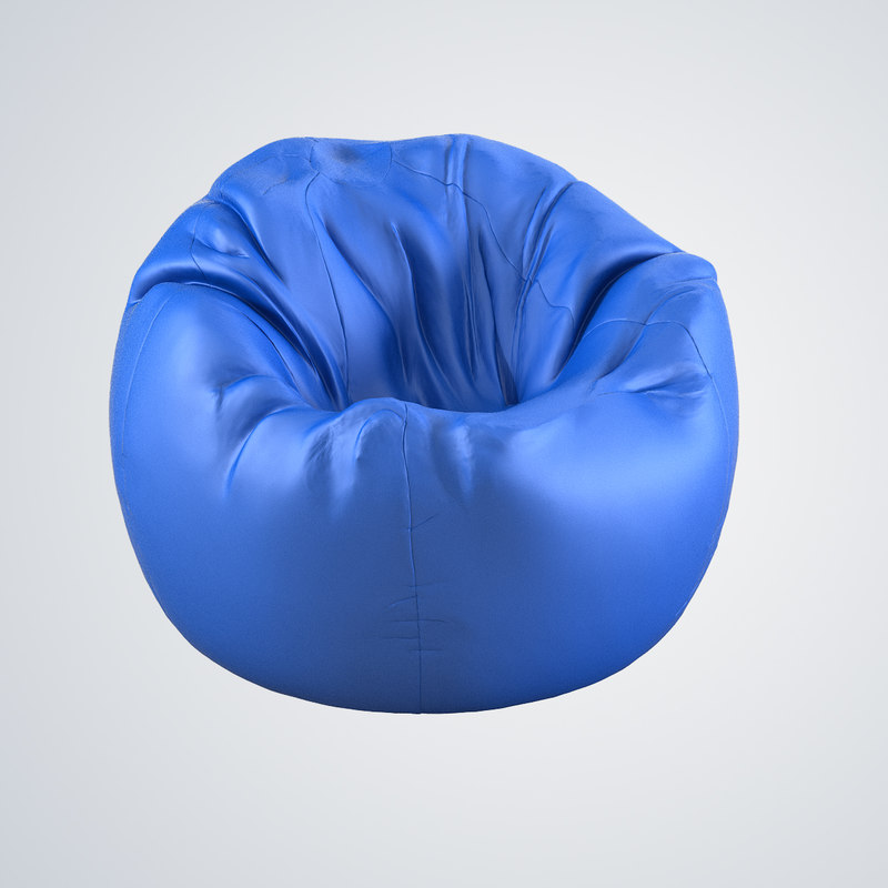 b Bean Bag chair soft  fabric realistic beanbag relax fun play kid children playroom furniture baby lounge soft modern contemporary 0001.jpg