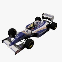 3ds max ayrton senna race car