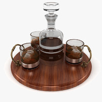Whisky And Serving Tray
