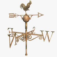 roof wind vane obj